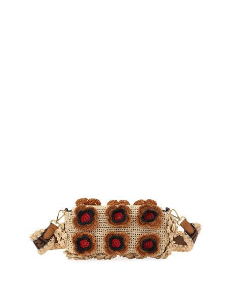 Baguette Raffia Shoulder Bag