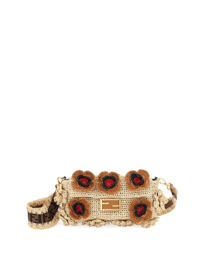 Baguette Raffia Shoulder Bag