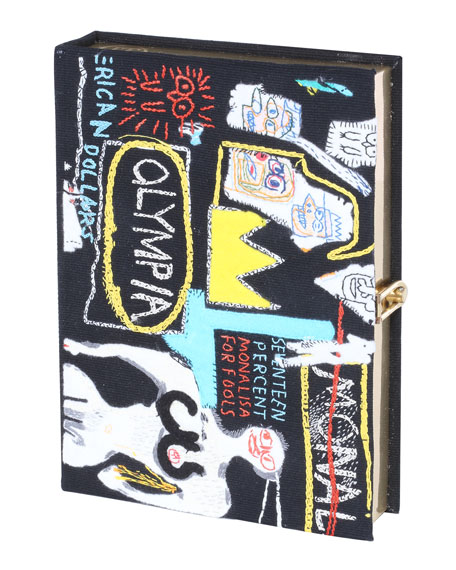 Basquiat Crown Hotel Artwork Book Clutch Bag