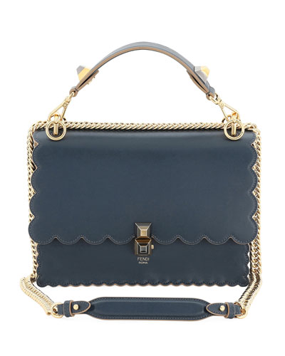 540fffc59aa Kan I Scalloped Leather Shoulder Bag Quick Look. Fendi