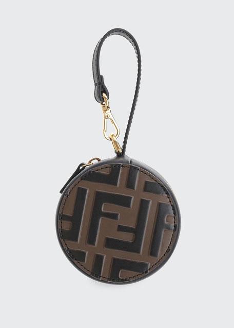 Fendi FF Leather Charm