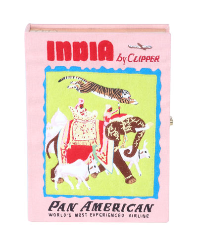India Book Clutch Bag