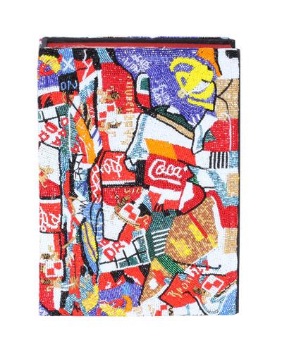 Compression Coca Cola Cesar Sculpture Book Clutch Bag