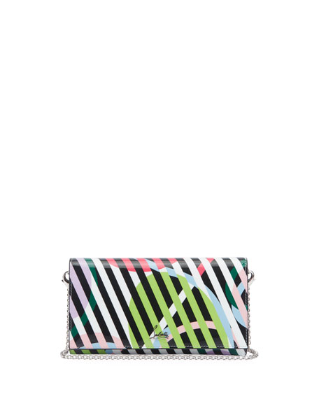 Christian Louboutin Boudoir Colorblock Chain Wallet
