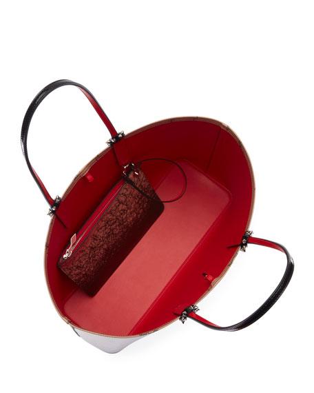 Cabata Patent Logo Tote Bag