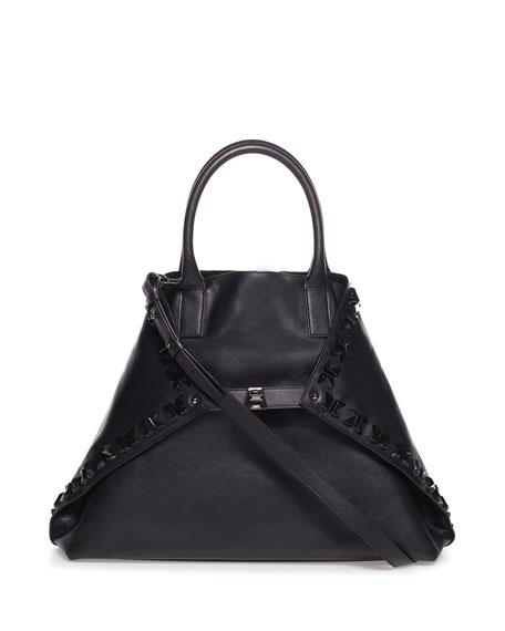Ai Magnets Medium Bratescu Leather Top-Handle Tote Bag