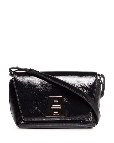 Anouk Little Day Crinkle Patent Crossbody Bag