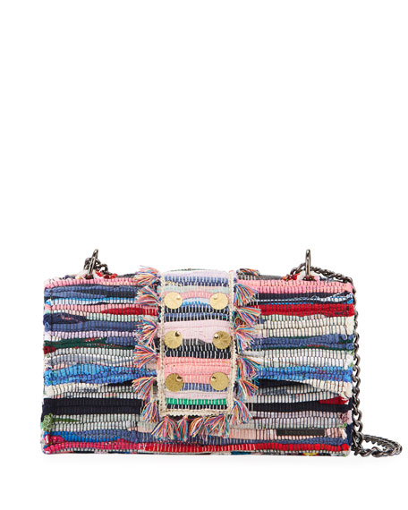 Kooreloo New Yorker Woven Front-Flap Bag w/ Removable