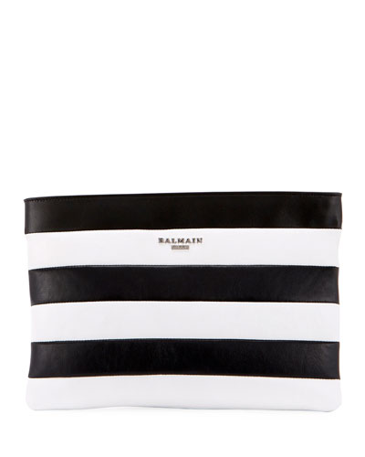 Striped Pochette Wallet Bag