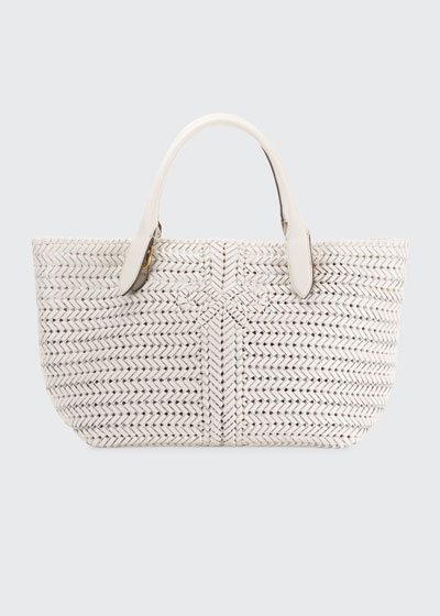 0c7a5a9bcf The Neeson Large Woven Leather Tote Bag