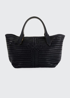 The Neeson Woven Leather Tote Bag by Anya Hindmarch