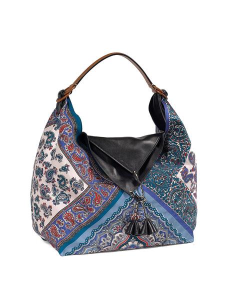 Silk Patterned Shoulder Bag