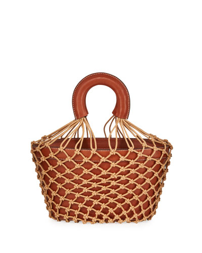 Hutton Leather and Net Bucket Bag