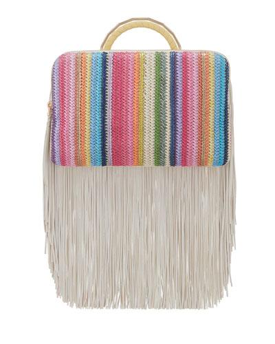 Rainbow Fringe Bon Bon Clutch Bag