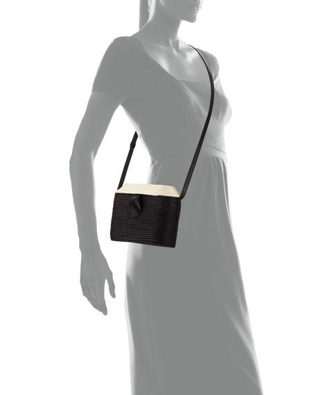 Two-Tone Jute Crossbody Bag