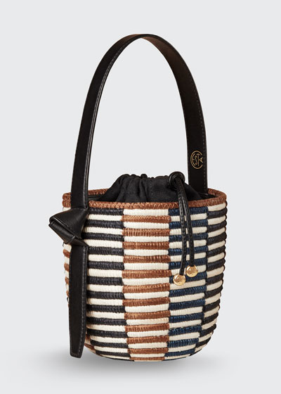 Checkerboard Lunch Pail Bucket Bag