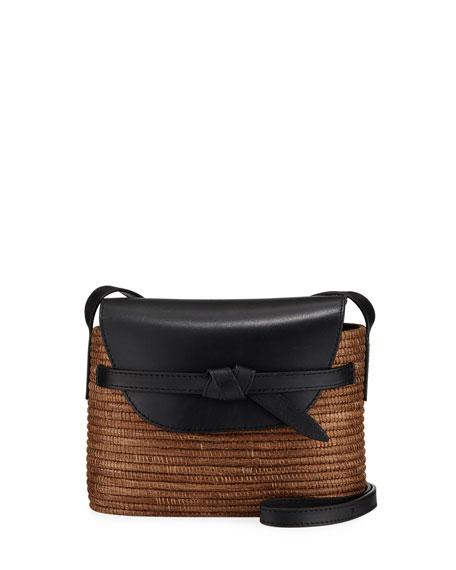 Cesta Collective Solid Jute and Leather Shoulder Bag