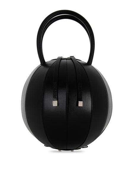 Nita Suri PILO Leather Circle Top Handle Bag,