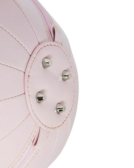 PILO Leather Circle Top Handle Bag, Pink