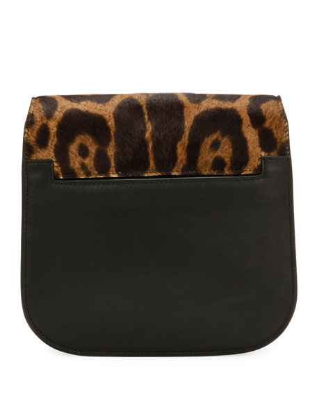 Leopard Calf Hair Shoulder Bag