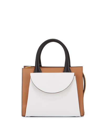 Law Colorblock Leather Shoulder Bag