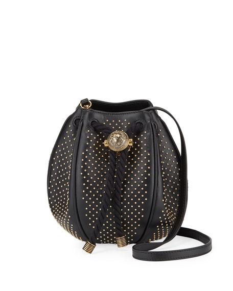 Balmain Mini B Studded Bucket Bag