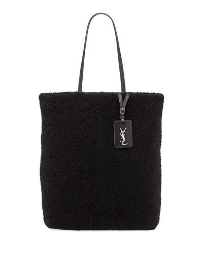 Shearling Fur Shoulder Tote Bag