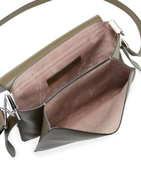 Leather Disc Shoulder Bag