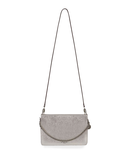 12cdc7b3bd7a Givenchy Cross 3 Metallic Leather   Suede Crossbody Bag