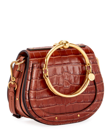 Nile Small Crocodile Bracelet Bag