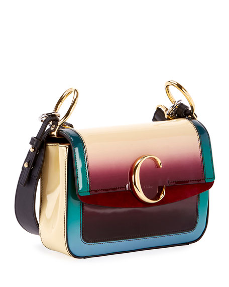Chloe C Medium Glossy Shading Shoulder Bag