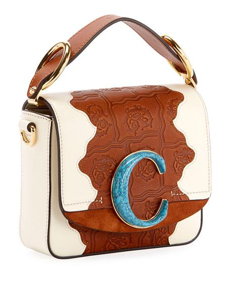 C Mini Patchwork Shoulder Bag