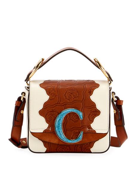Chloe C Mini Patchwork Shoulder Bag