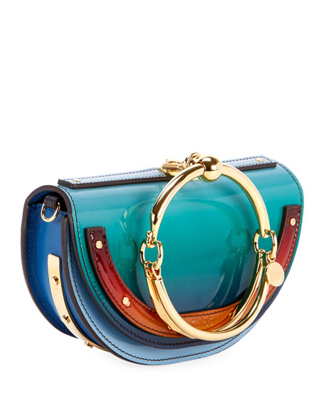 Nile Glossy Minaudiere Shoulder Bag