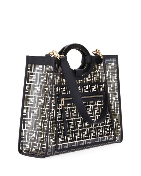 451562b8fc5a Fendi Runaway Medium FF PVC Shopper Tote Bag