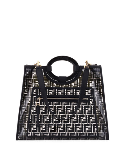 e12677ae919e Runaway Medium FF PVC Shopper Tote Bag Quick Look. Fendi