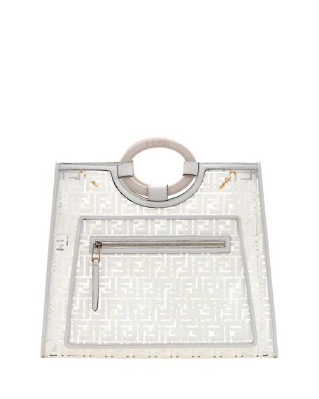 Fendi Runaway Large FF PVC Shopper Tote Bag