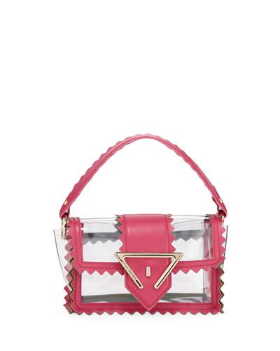 Helen Zigzag Mixed-Media Shoulder Bag