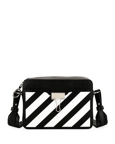 Diagonal Leather Camera Shoulder Bag