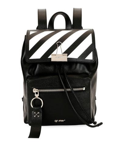 Diagonal Mini Leather Backpack