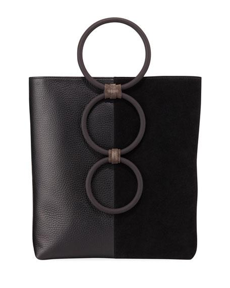Carolina Santo Domingo Petra Mini Leather/Suede Ring Tote