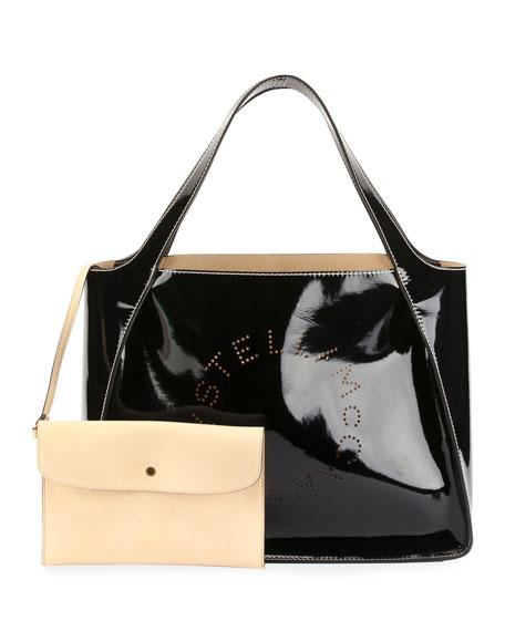 fd636dd8c388 Stella McCartney Patent Alter Nappa Logo Tote Bag