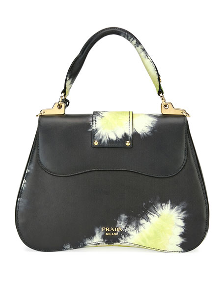 Prada Tie-Dye Prada Sidonie Top-Handle Tote Bag