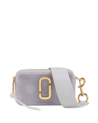 The Jelly Glitter Snapshot Crossbody Bag