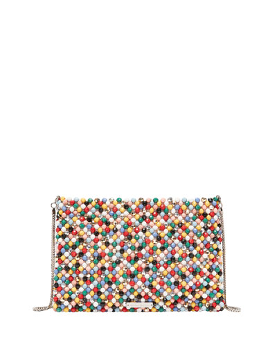 Beaded Pouch Clutch Bag