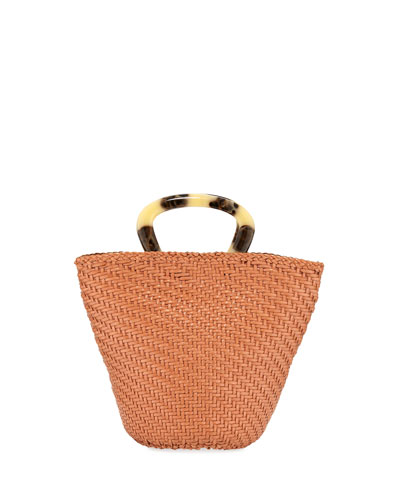 Agnes Woven Fan Tote Bag