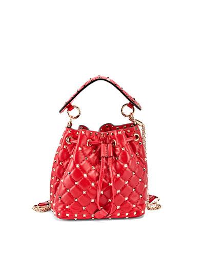 bdcb7167310 Rockstud Spike Quilted Bucket Bag Quick Look. Valentino Garavani
