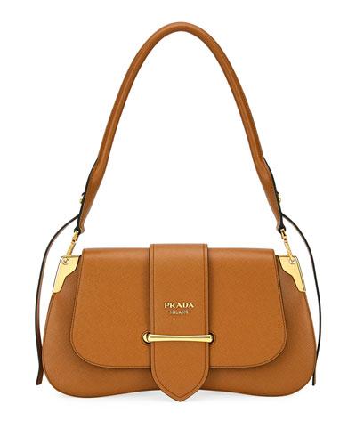 Sidonie Saffiano Large Shoulder Bag