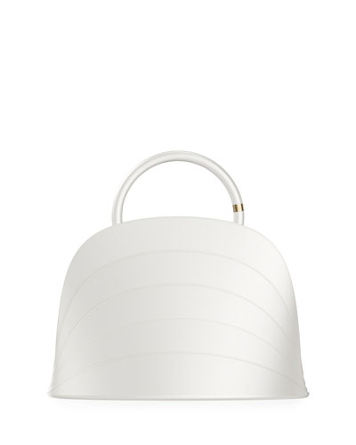 Millefoglie J Layered Top Handle Bag  White
