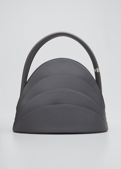 Millefoglie Layered Top Handle Bag  Gray